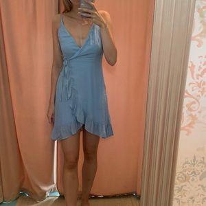 Listicle Boutique Flowy Blue Dress